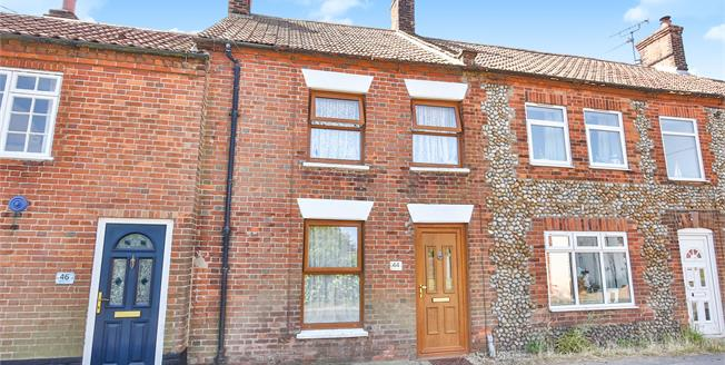 Guide Price £165,000, 2 Bedroom Terraced Cottage For Sale in Briston, NR24