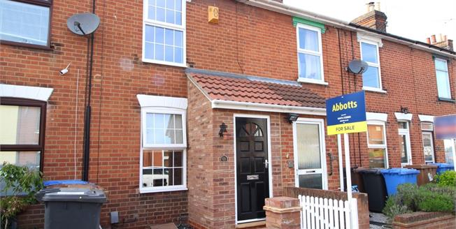 Asking Price £170,000, 3 Bedroom Terraced House For Sale in Ipswich, IP1