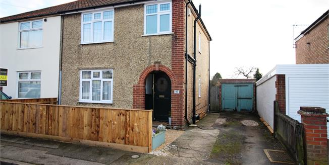 Asking Price £225,000, 3 Bedroom Semi Detached House For Sale in Ipswich, IP1