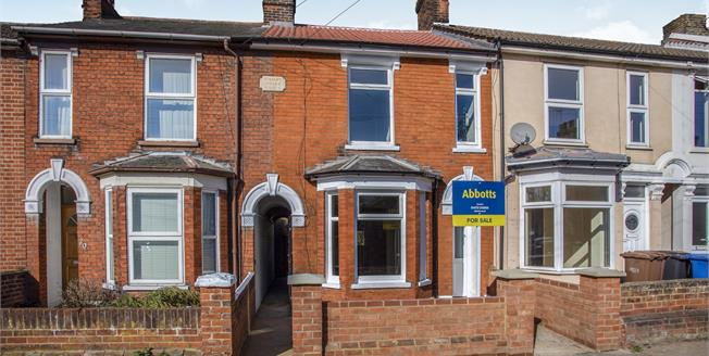 Offers in excess of £190,000, 3 Bedroom Terraced House For Sale in Ipswich, IP1