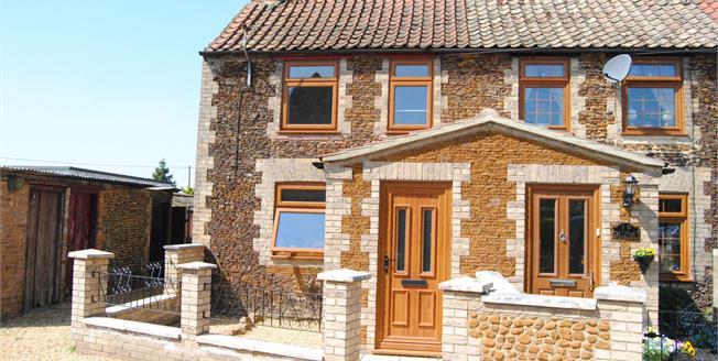 Offers in excess of £190,000, 2 Bedroom Semi Detached Cottage For Sale in Grimston, PE32