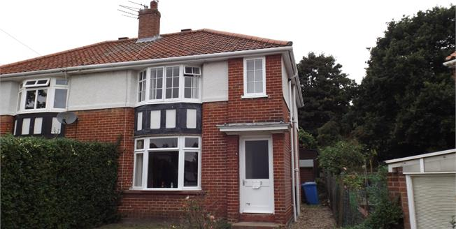 Guide Price £160,000, 3 Bedroom Semi Detached House For Sale in Norwich, NR1