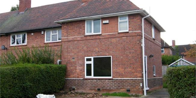 Guide Price £117,000, 3 Bedroom End of Terrace House For Sale in Beeston, NG9