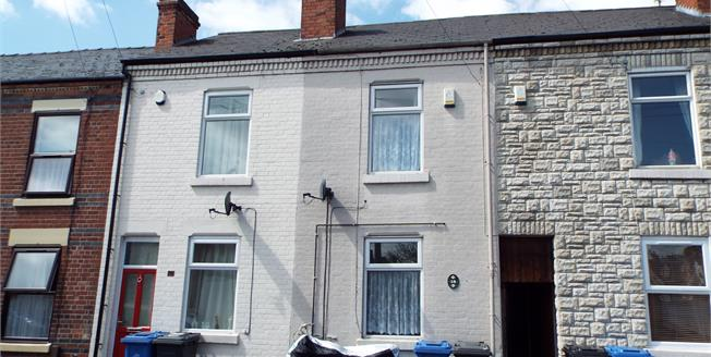 Offers Over £80,000, 2 Bedroom Terraced House For Sale in Derby, DE24