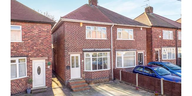 Offers Over £140,000, 2 Bedroom Semi Detached House For Sale in Hucknall, NG15