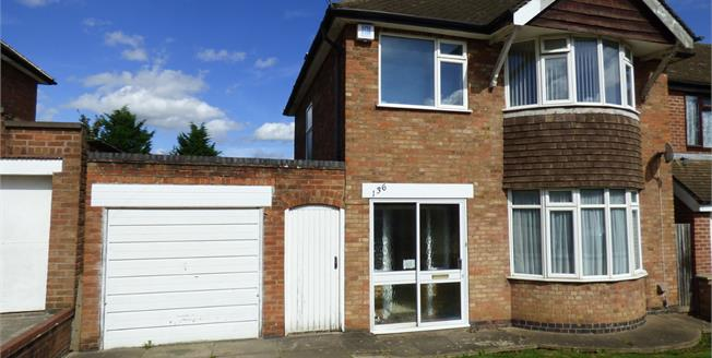 Guide Price £240,000, 3 Bedroom Detached House For Sale in Leicester, LE5