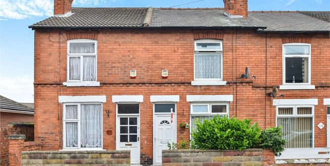 Guide Price £65,000, 2 Bedroom Terraced House For Sale in Mansfield, NG19