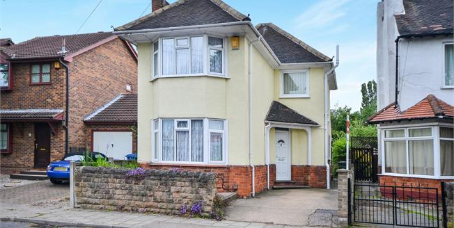 Guide Price £170,000, 3 Bedroom Detached House For Sale in Mansfield, NG18