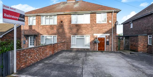 Guide Price £130,000, 3 Bedroom Semi Detached House For Sale in Mansfield, NG19