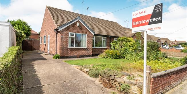 Asking Price £135,000, 2 Bedroom Semi Detached Bungalow For Sale in Mansfield Woodhouse, NG19
