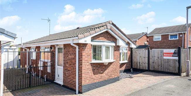 Offers Over £140,000, 2 Bedroom Detached Bungalow For Sale in Forest Town, NG19