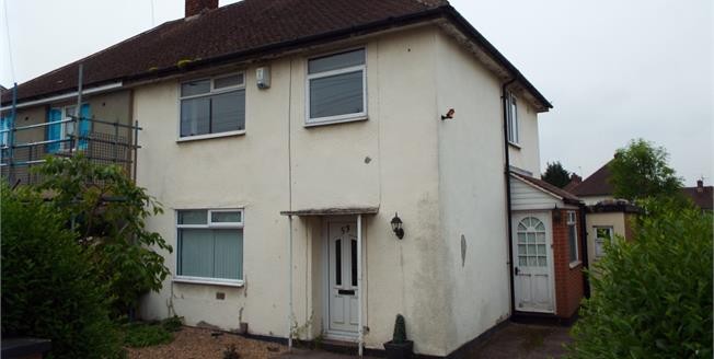 Offers Over £85,000, 3 Bedroom Semi Detached House For Sale in Nottingham, NG8