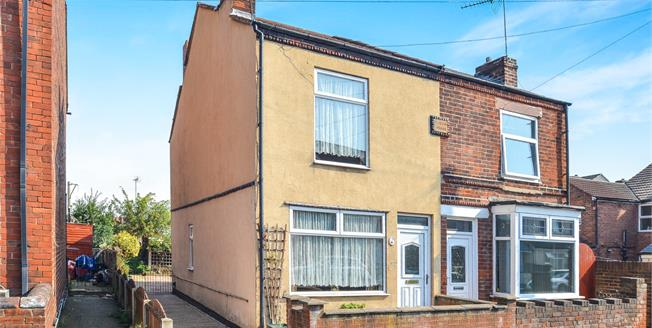 Offers Over £70,000, 2 Bedroom Semi Detached House For Sale in Sutton-in-Ashfield, NG17