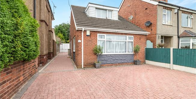 Guide Price £160,000, 3 Bedroom Detached Bungalow For Sale in Sutton-in-Ashfield, NG17