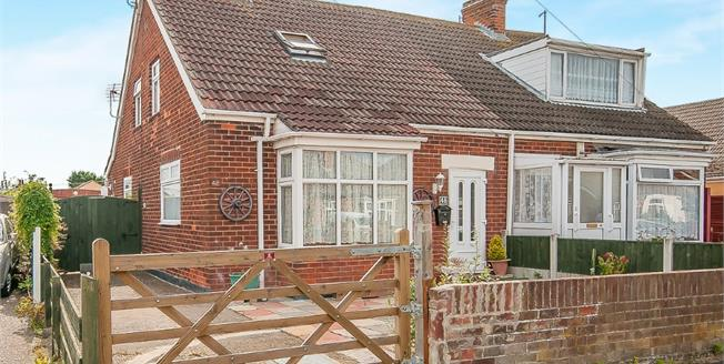 Asking Price £130,000, 3 Bedroom Semi Detached Bungalow For Sale in Mablethorpe, LN12