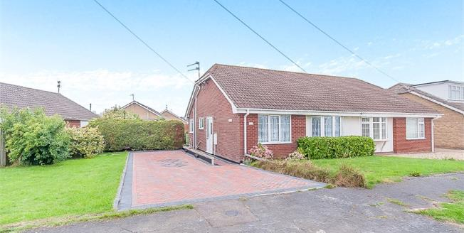 Asking Price £140,000, 2 Bedroom Semi Detached Bungalow For Sale in Sutton-on-Sea, LN12