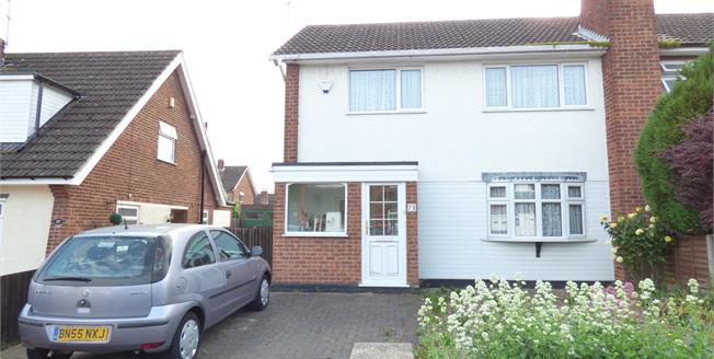 Offers in the region of £190,000, 3 Bedroom Semi Detached House For Sale in Leicester, LE18