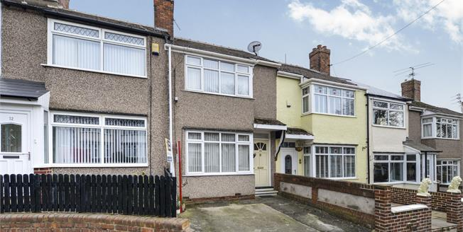 Offers Over £90,000, 2 Bedroom Terraced House For Sale in Darlington, DL3