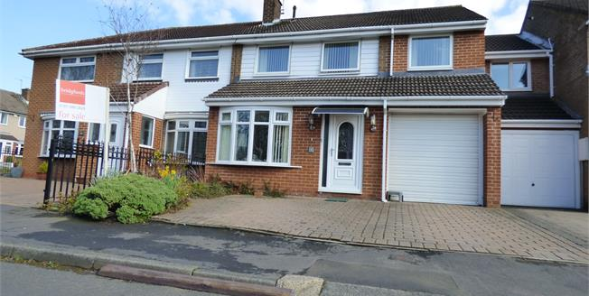 Guide Price £210,000, 4 Bedroom Semi Detached House For Sale in Durham, DH1