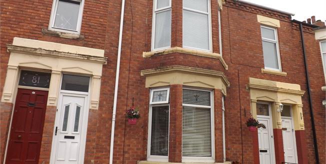 £75,000, 2 Bedroom Terraced Flat For Sale in South Shields, NE33