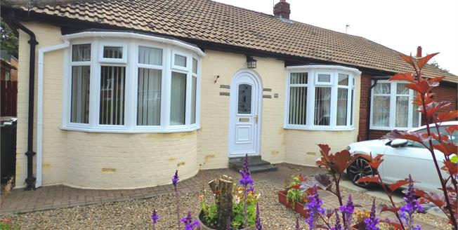 Offers Over £175,000, 2 Bedroom Semi Detached Bungalow For Sale in Whitley Bay, NE25