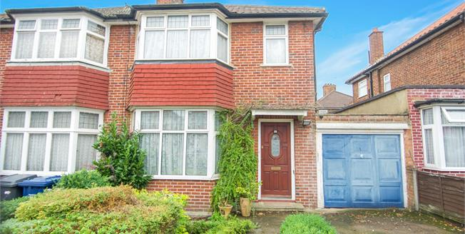 Asking Price £550,000, 3 Bedroom Semi Detached House For Sale in London, NW9