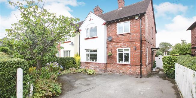 Guide Price £465,000, 3 Bedroom Semi Detached House For Sale in Alderley Edge, SK9