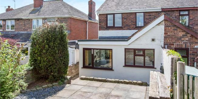 £156,000, 2 Bedroom Semi Detached House For Sale in Bignall End, ST7
