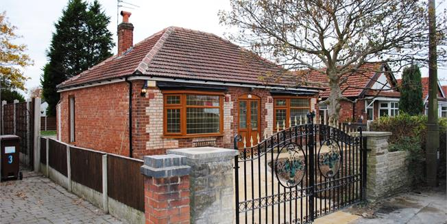 Guide Price £270,000, 2 Bedroom Detached Bungalow For Sale in Stockport, SK8