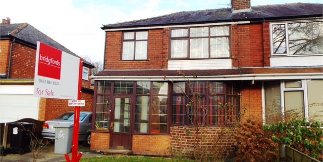 Guide Price £250,000, 3 Bedroom Semi Detached House For Sale in Firswood, M16