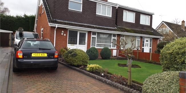 Guide Price £155,000, 3 Bedroom Semi Detached Bungalow For Sale in Shavington, CW2