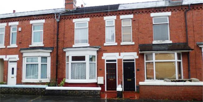 Offers in the region of £85,000, 2 Bedroom Terraced House For Sale in Crewe, CW2