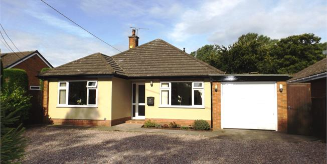£300,000, 3 Bedroom Detached Bungalow For Sale in Shavington, CW2
