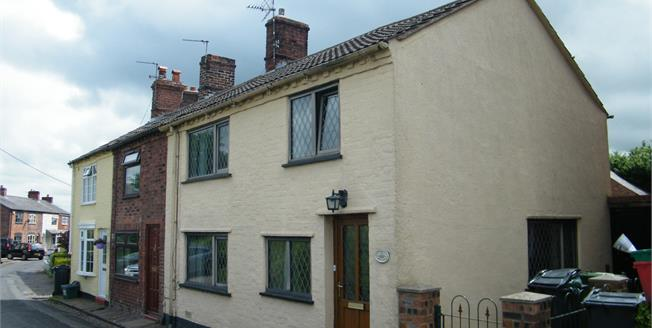 Offers Over £160,000, 2 Bedroom End of Terrace Cottage For Sale in Moulton, CW9