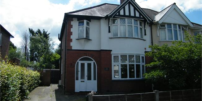 Offers in excess of £190,000, 3 Bedroom Semi Detached House For Sale in Northwich, CW8