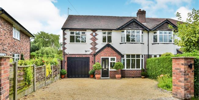 Guide Price £560,000, 4 Bedroom Semi Detached House For Sale in Wilmslow, SK9