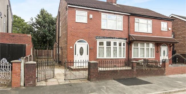 Guide Price £220,000, 3 Bedroom Semi Detached House For Sale in Manchester, M19