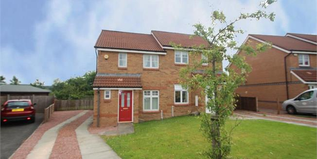 Fixed Price £108,950, 2 Bedroom Semi Detached House For Sale in Chapelhall, ML6