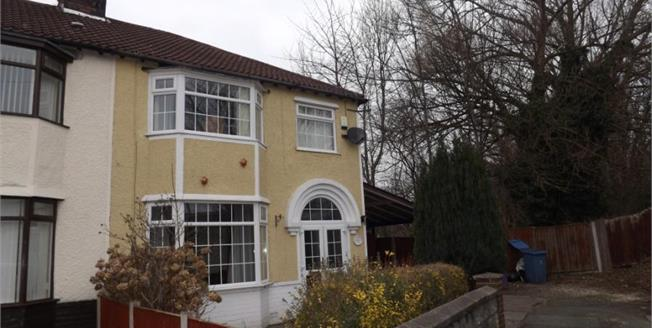 £250,000, 3 Bedroom Semi Detached House For Sale in Garston, L19