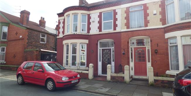 Asking Price £200,000, 4 Bedroom For Sale in Liverpool, L15