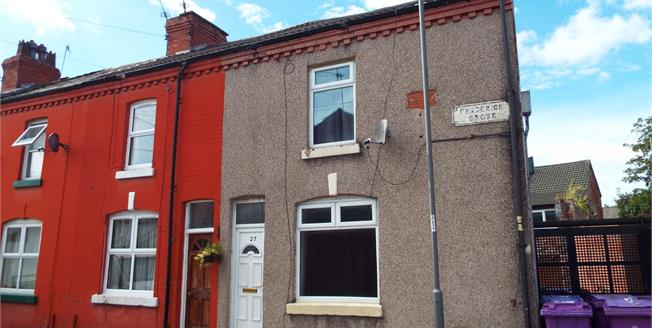 Asking Price £78,000, 2 Bedroom End of Terrace House For Sale in Liverpool, L15