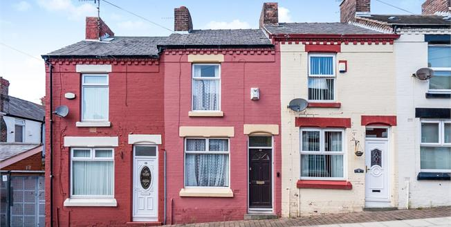 Offers Over £80,000, 2 Bedroom Terraced House For Sale in Liverpool, L8
