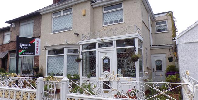 Offers Over £275,000, 4 Bedroom Semi Detached House For Sale in Liverpool, L18