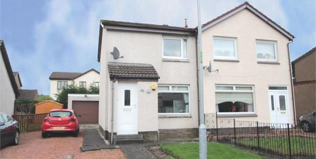 Fixed Price £77,500, 2 Bedroom Semi Detached House For Sale in Motherwell, ML1