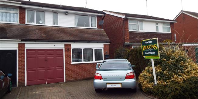 Asking Price £140,000, 3 Bedroom Semi Detached House For Sale in Cannock, WS11