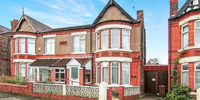 £275,000, 4 Bedroom Semi Detached House For Sale in Crosby, L23