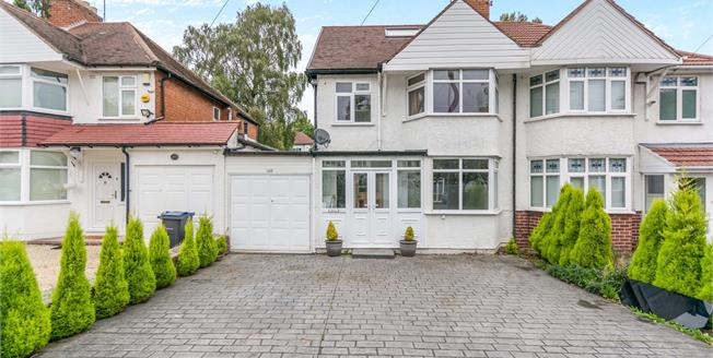 Offers Over £300,000, 4 Bedroom Semi Detached House For Sale in Birmingham, B17