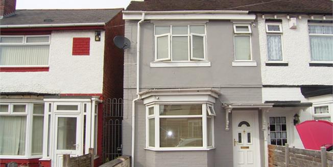 Guide Price £120,000, 2 Bedroom End of Terrace House For Sale in Birmingham, B8