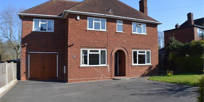 £425,000, 4 Bedroom Detached House For Sale in Lichfield, WS13