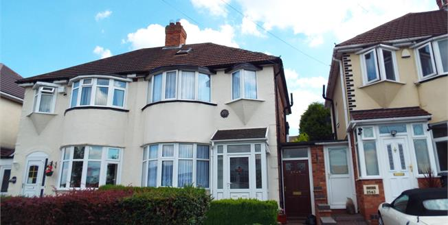 Offers Over £190,000, 3 Bedroom Semi Detached House For Sale in Sheldon, B26